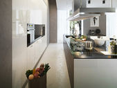 Kitchen contemporary style — Stock Photo
