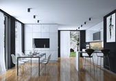 Kitchen dining modern style — Стоковое фото