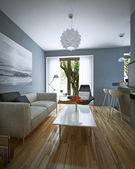Living room modern style — Stock Photo
