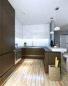 Kitchen in a modern style — Stock Photo