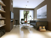 Living room modern style — Стоковое фото