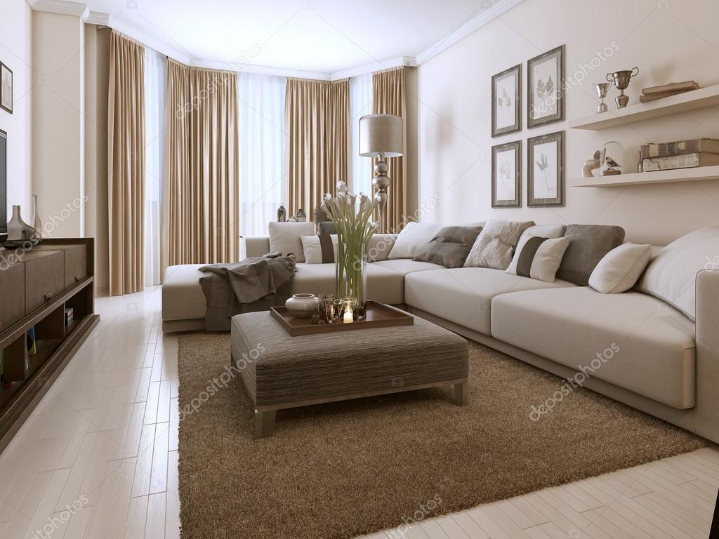 Sala de estar em estilo contempor neo fotografias de for Sala de estar estilo arabe