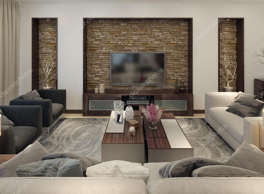 Wohnzimmer modern eingerichtet — Stockfoto © kuprin33 #49110319