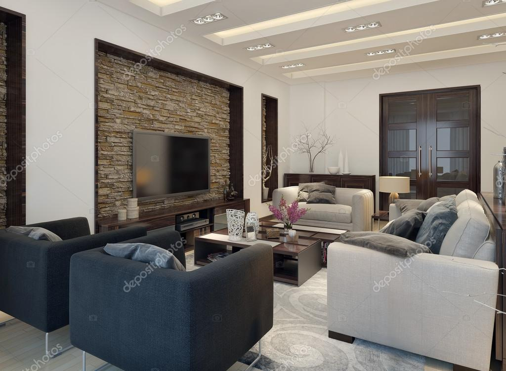 wohnzimmer modern eingerichtet ? stockfoto © kuprin33 #49110333 - Wohnzimmer Modern Eingerichtet