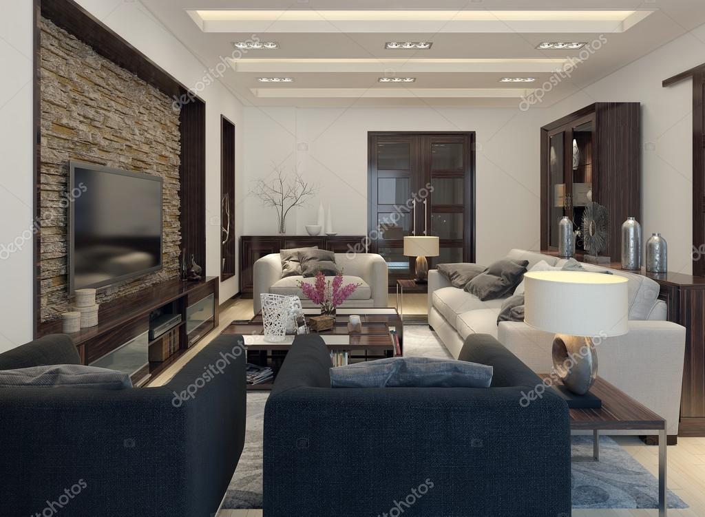 wohnzimmer modern eingerichtet ? stockfoto © kuprin33 #49110345 - Wohnzimmer Modern Eingerichtet