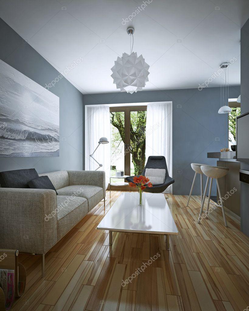 Wohnzimmer Modern Eingerichtet ? Stockfoto © Kuprin33 #49110545 Wohnzimmer Modern Eingerichtet