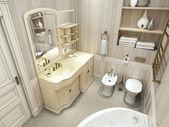 Luxury bathroom, classic style — Stock Photo