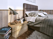 Bedroom modern style — Stock Photo