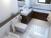Bathroom in modern style — Stock Photo