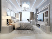 Luxury bedroom interior — Stock Photo