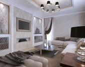 Living room classic style — Stockfoto