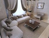 Living room, art deco style, classic style — Stockfoto