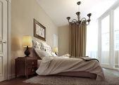 Bedroom art deco — Stock Photo