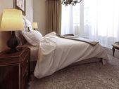 Art-déco schlafzimmer — Stockfoto