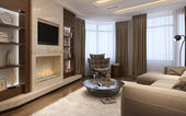 Living room in a modern style  — Stockfoto