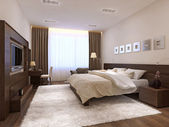 Bedroom interior in modern style — Stock Photo
