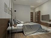 Bedroom interior in contemporary style — Стоковое фото