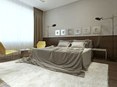 Bedroom interior in contemporary style — Stock Photo