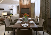 Dining room modern interior — Foto de Stock