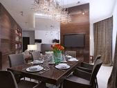 Comedor moderno interior — Foto de Stock