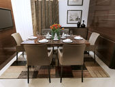 Dining room modern interior — 图库照片