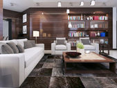 Living room modern interior — 图库照片