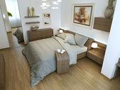 Bedroom modern interior — Stock Photo