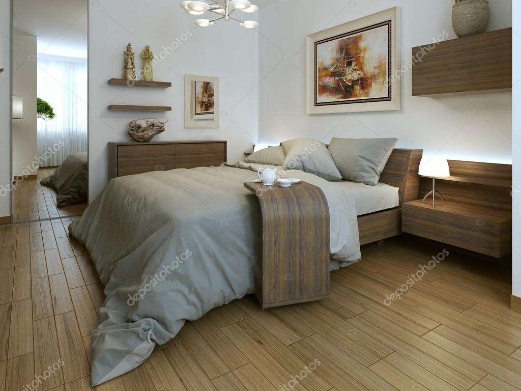 Interni moderni camera da letto — Foto Stock © kuprin33 #51675413