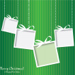 Abstract Christmas card with gifts. — Stock Photo