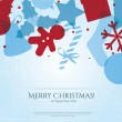 Abstract Christmas card with Christmas icons — Stock Photo