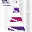 Abstract Christmas card with a tree in purple colors. — ストック写真