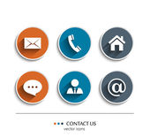 Contact and communication icons. — Stock Vector