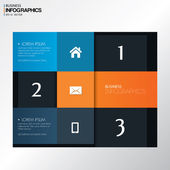 Modern design template in bright colors  - can be used for infographics — 图库矢量图片