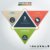 Three steps to success. Vector design element. — Vecteur