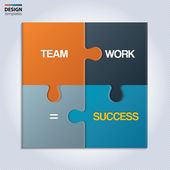 Illustration of piece of jigsaw puzzle showing business equation. — Stock Vector
