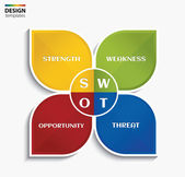 SWOT analysis business concept. Vector illustration. — Vector de stock