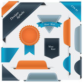 Big set of labels, bookmarks, tags, badge. — Vector de stock