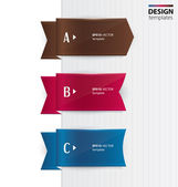 Set of colorful banners, bookmarks, labels. Modern design template. — 图库矢量图片