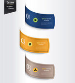 Set of colorful banners, bookmarks, labels, website layouts. Modern design template. — Vettoriale Stock