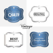 Vector vintage labels with text. — Stock Vector