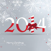 Greeting card with snowflakes for Christmas and New Year — Stockvektor