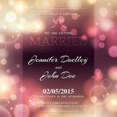 Convite de casamento em cor brilhante. — Vetorial Stock