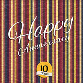 Anniversary text on crumpled paper. — Stock Vector