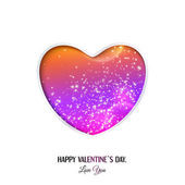 Happy Valentine's Day lettering Greeting Card. — Stock Vector