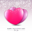 Happy Valentine's Day lettering Greeting Card with hearts. — Stock Vector #46204883