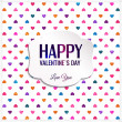 Happy Valentine's Day lettering Greeting Card with hearts. — Stock Vector #46207881