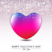 Happy Valentine's Day lettering Greeting Card with hearts. — Vector de stock