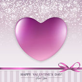 Happy Valentine's Day lettering Greeting Card with heart. — Stock Vector