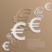 Vektor-Euro-Zeichen-Hintergrund. — Stockvektor