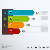 Vector template for infographic. — Stock Vector